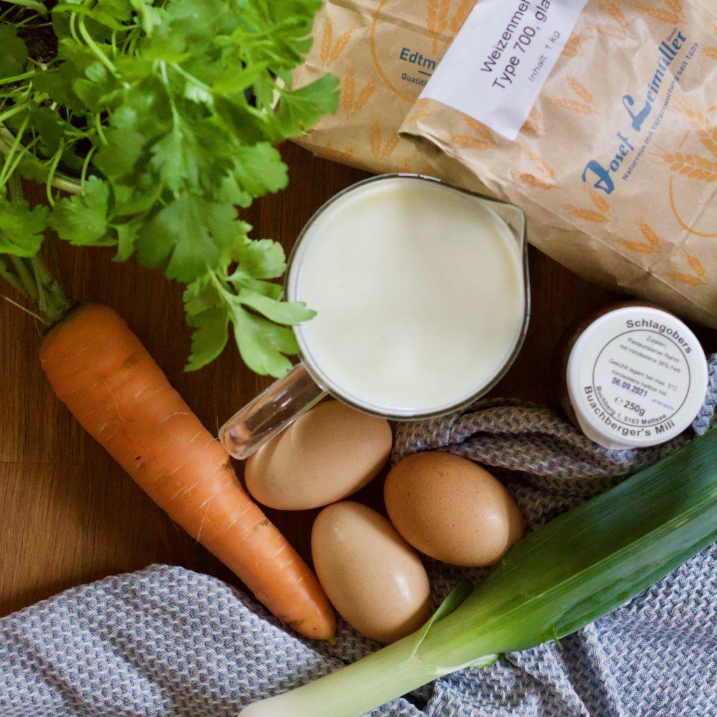 Lauch-Karotten-Spätzle